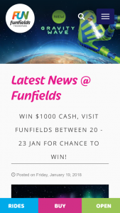funfields – Win $1000 Cash Visit Funfields Between 20 23 Jan for Chance to Win