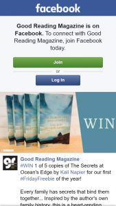 Good Reading magazine – Win 1 of 5 Copies of The Secrets at Ocean's Edge By Kali Napier for Our First #fridayfreebie of The Year