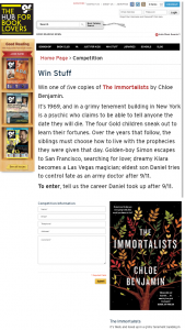 Good Reading Magazine – Win One of &#64257ve Copies of The Immortalists By Chloe Benjamin