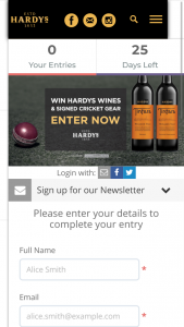 Hardys Wines – Win 1/12 Hardys Wines Packs and a Signed Cricket Bat (prize valued at $6,216)
