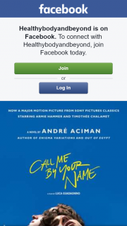 Healthybodyandbeyond – Win a Double Pass to Call Me By Your Name