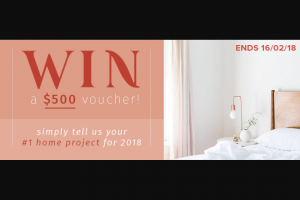 House of Home – Win a $500 Voucher (prize valued at $500)
