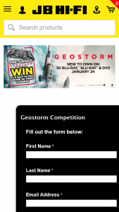 JB HiFi preorder Geostorm for a chance to – Win 1 of 3 Hover Camera Passport Drone (prize valued at $2,850)