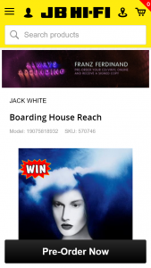 JB Hi-Fi Pre-order Jack White's new album for a chance to – Win a Turntable Signed By Jack White