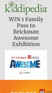 Kiddipedia – Win 1 Family Pass to Brickman Awesome Exhibition