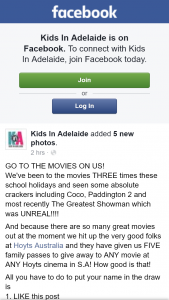 Kids In Adelaide – Competition