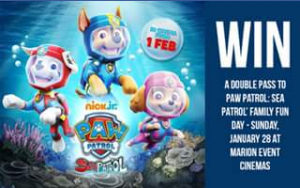 Kids In Adelaide – Win Double Passes to The Exclusive Screening of Paw Patrol Sea Patrol at The Event Cinemas Marion Family Fun Day on Sunday January 28.