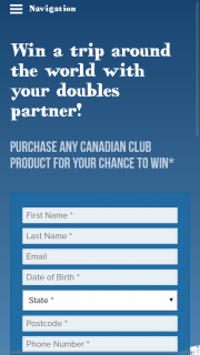 Liquorland Canadian Club – Win The Major Prize of a Holiday for Two (2) Adults to The Winner's Choice of Destination (prize valued at $20,200)