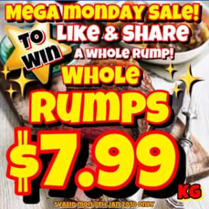 Mega Meats Booval – Win a Whole Rump