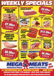 Mega Meats Browns Plains – Win a $50 Voucher (prize valued at $50)