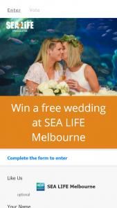 Melbourne Aquarium – Win an Unforgettable Wedding at Melbourne's Most Unique Venue (prize valued at $12,000)