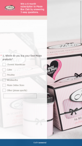 Moxie – Win a 6-month Subscription to Moxie Box Club Simply By Answering 3 Easy-Peasy Questions (prize valued at $90)