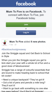 Mum to Five – Win a Prize Consisting of (prize valued at $74)