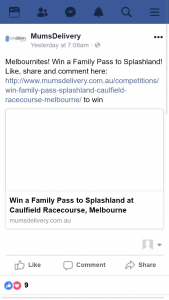 Mums Delivery – Win a Family Pass