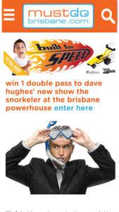 Must Do Brisbane – Win a Double Pass to See Stand Up Comedy King Dave Hughes's New Show The Snorkeler