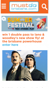 Must Do Brisbane – Win 1 Double Pass to The Performance on Wednesday 6 June at 7.30pm