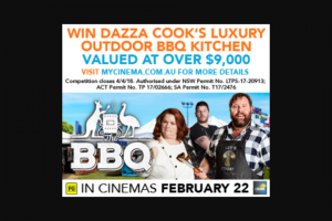 MyCinema – Win Dazza Cook's Home Bbq Kitchen As Featured In The Movie (prize valued at $9,334)