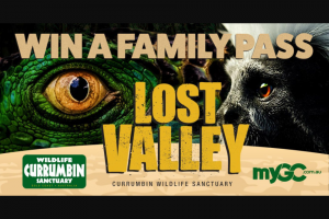MyGC – Win a Family Pass to Lost Valley at Currumbin Wildlife Sanctuary