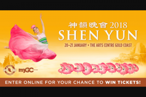 MyGC – Win Tickets to See Shen Yun at The Arts Centre Gold Coast