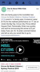 Out & About With Kids – Win One Family Pass to The Incredible New Circus Oz Model Citizens | Sydney Festival 2018 Event In 1x Family Pass