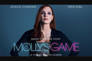 Perth Now – Win Tickets to Molly's Game closes 12noon