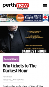 Perth Now – Win Tickets to The Darkest Hour