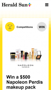 Plusrewards – Win a $500 Napoleon Perdis Makeup Pack (prize valued at $500)