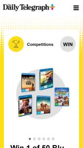 Plusrewards – Win 1 of 50 Blu-Raytm Packs to Celebrate Australia Day (prize valued at $4,987.5)