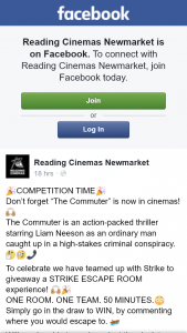 Reading Cinemas Newmarket – Win an Escape Room Experience