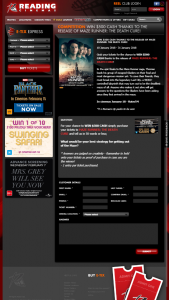 Reading cinemas – Win $500 Cash Simply Purchase Your Tickets to Maze Runner