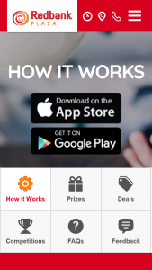Redbank Plaza – Win an Ipad Download App