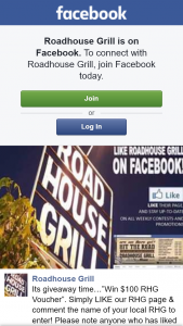 Roadhouse Grill – Win a $100 Rhg Voucher