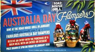 Roadhouse Grill – Win a $50 Rhg Voucher (prize valued at $500)