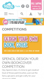 Spencil – Win 50 Book Covers Printed With Your Design
