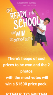 Spendless ShoesBack to School Competition (prize valued at $1,500)