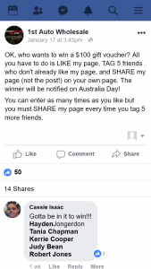 1st Auto Wholesale Brisbane – Win a $100 Gift Voucher