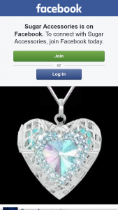 Sugar Accessories – Win a Crystal Heart Rainbow Oil Locket Necklace
