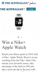 The Australian – Win a Nike Apple Watch (prize valued at $500)