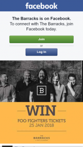 The Barracks – Win Tickets to Brisbane Foo Fighters Concert