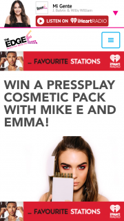 The Edge 96.1 – Win a Pressplay Cosmetics Pack Valued at Over $150 Listen to Mike E & Emma In Breakfast All this Week (prize valued at $150)