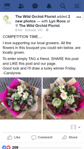 The Wild Orchid Florist – Win a Bouquet