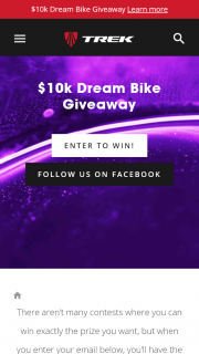 Trek Cycles – Win The Bike of Your Dreams (prize valued at $10,000)
