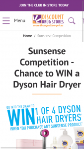 Win One of Four Dyson Hair Dryer's Discount Drug Store 5pm