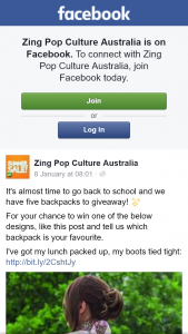 Zing Pop culture Australia – Win One of The Below Designs