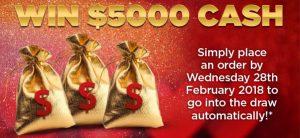Australian NaturalCare – Win a $5,000 cash prize