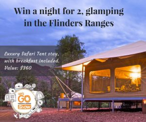 Caravan and Camping SA – Win one-night stay in the Ikara Safari Camp glamping tent with breakfast for 2 valued at $360