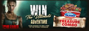 Cold Rock – Tomb Raider – Win a prize package valued at $3,760 including a trip to Sydney and more