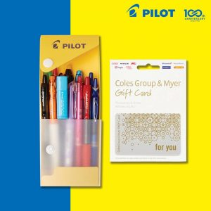 Pilot Pen Australia – Win a prize pack of a $50 Coles & Myer Gift Cards plus a Pilot Pen pack filled with 14 pens