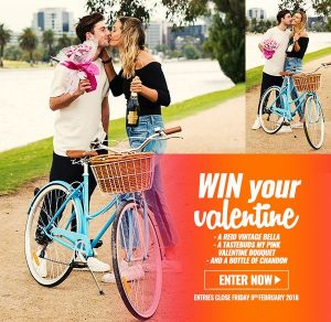 Reid Cycles – Valentine's – Win a Vintage Bella Bicycle, a Pink Bouquet & a bottle of Chandon