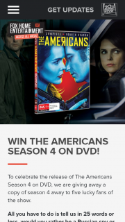 Access All Areas – Win The Americans Season 4 on DVD